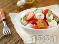 Рецепта Салата с чери домати и бейби моцарела